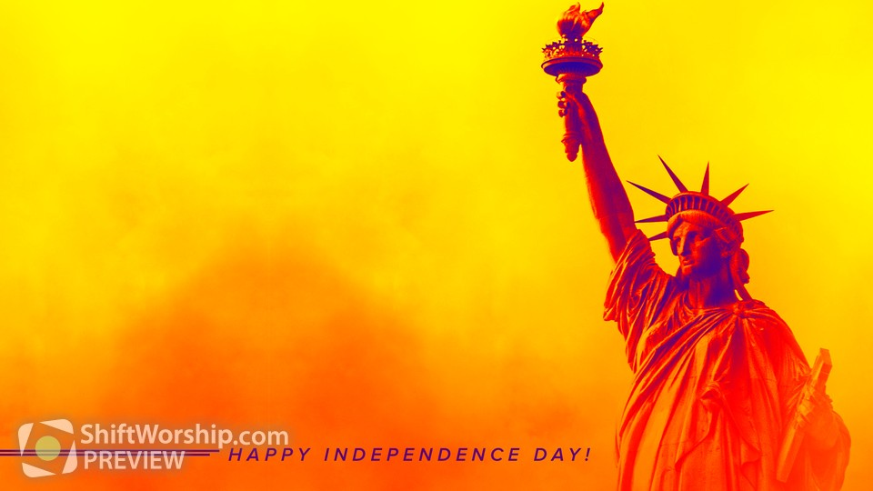 Happy Independence Day Lower Tagline