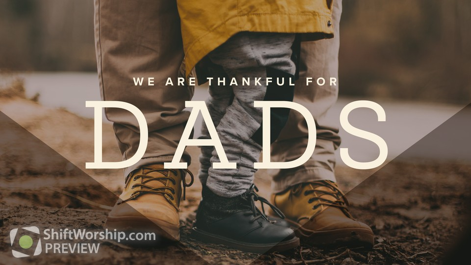 We Are Thankful For Dads Title 2