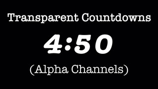 Transparent Countdowns