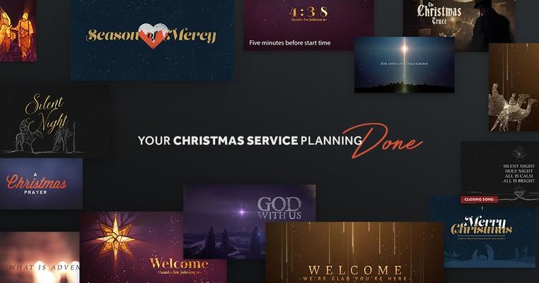 Christmas Worship Backgrounds