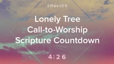 Lonely Tree 2 Peter 1 Scripture Countdown