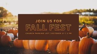 Fall Fest Sermon