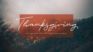 Thanksgiving Sermon Title