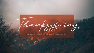 Thanksgiving Sermon Title