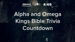 Alpha And Omega Trivia Countdown