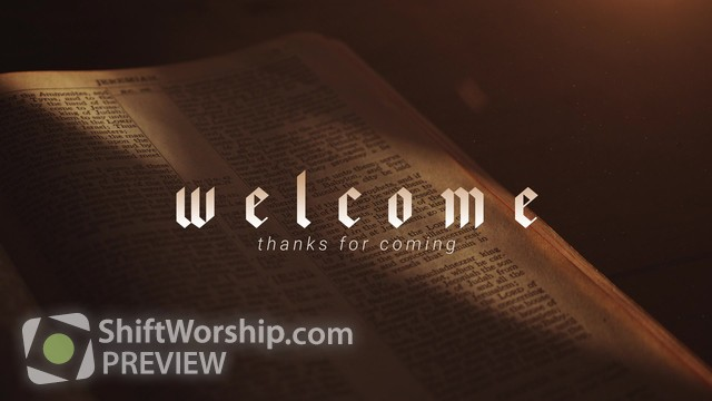 Preview of Bible Welcome