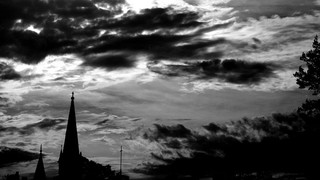 Black And White Steeple
