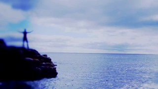 Blue Rocky Shore