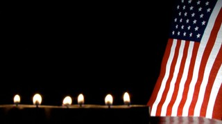 Candles And Flag