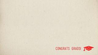 Cheer Congrats Red