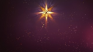 Christmas Glass Center Star