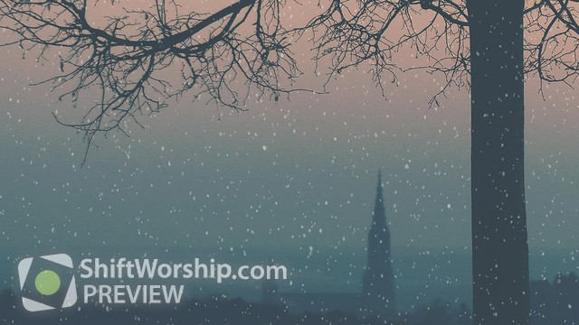 Preview of Christmas Ribbon Steeple Snow