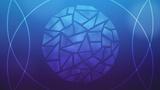 Circle Glass Blue