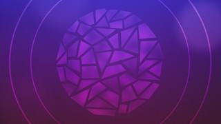 Circle Glass Purple