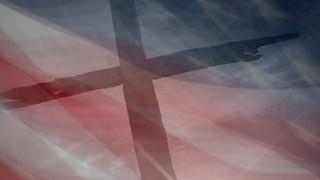 Cross And Flag