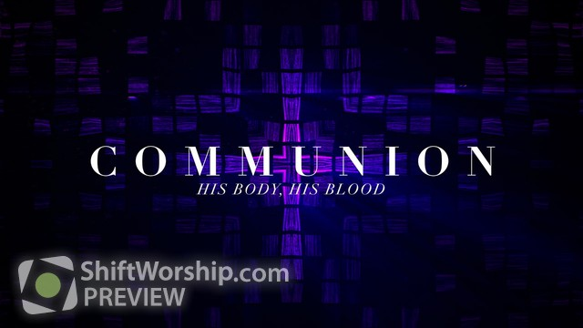 Preview of Cross Glass Communion