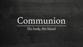 Faded Text Communion