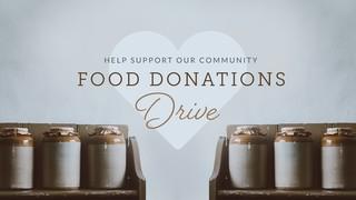 Food Drive Sermon