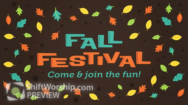 Preview of Fall Fest Festival