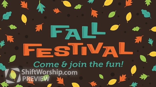 Preview of Fall Fest Sermon Series
