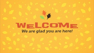 Fall Fest Welcome Leaves