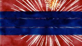 Fireworks Banner Blank