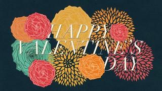 Floral Valentine Valentines Day