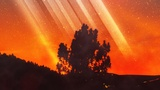 Galaxy Rays Firey Sky