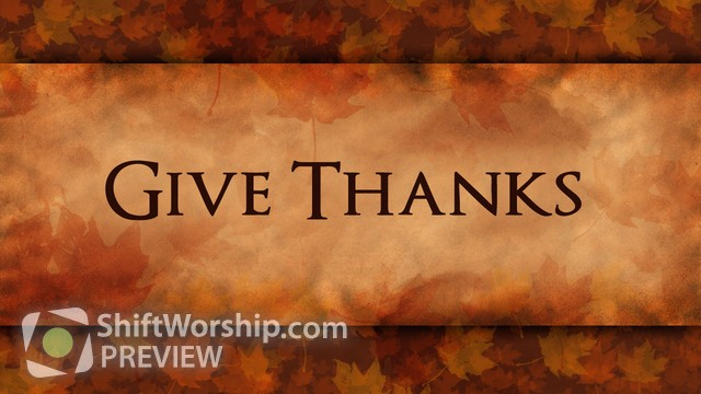 Preview of Give Thanks Leaves