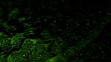 Glass Surface Green Sparks