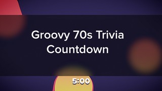 Groovy 70s Trivia Countdown