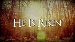 He Is Risen Trees
