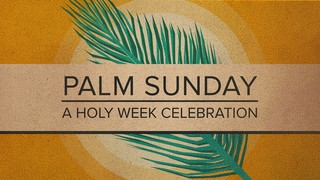 Holy Week Palm Title