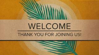 Holy Week Palm Welcome