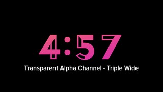Just Countdowns 5-Minute Countdown Alpha Triple Wide