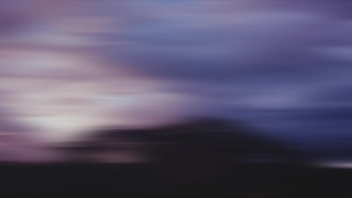 Misty Mountain Sunrise Blur