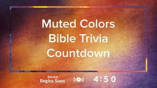 Muted Colors Extra Trivia Countdown
