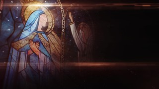 Nativity Glass Annunciation