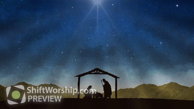 Christmas Stable Background.Motion Worship Backgrounds For Your Next Church Service