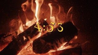 Nostalgic Fireplace Countdown