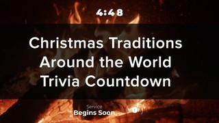 Nostalgic Fireplace Trivia Countdown