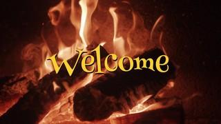 Nostalgic Fireplace Welcome