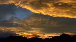 Orange Sunset Clouds