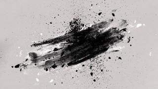 Painted Ash Brush Black Gray