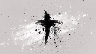 Painted Ash Cross Black Gray