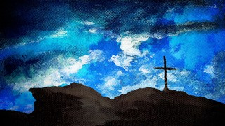 Painted Clouds Cross