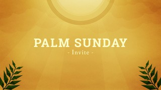 Palm Sunday Invite