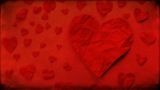 Paper Hearts Red