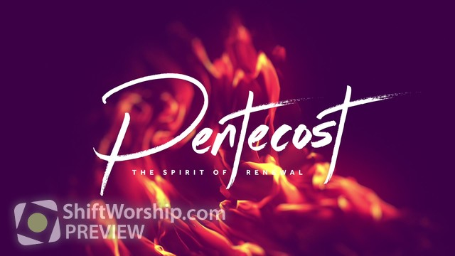 Preview of Pentecost Flames Title