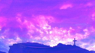 Purple Clouds Cross